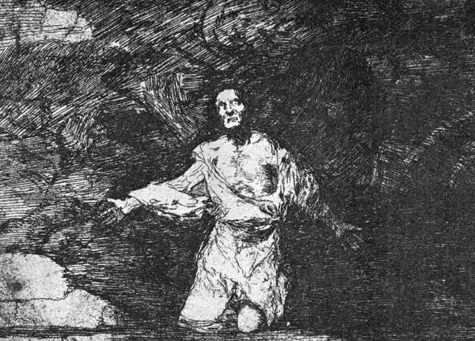 "Stik fra Francisco Goyas ""Krigens katastrofer""."