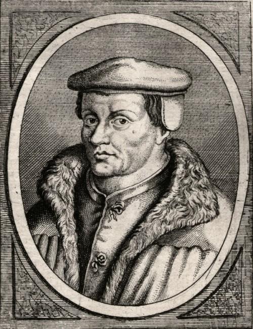 Thomas Müntzer. Kobbertryk af Gaspar Bouttats (1690).