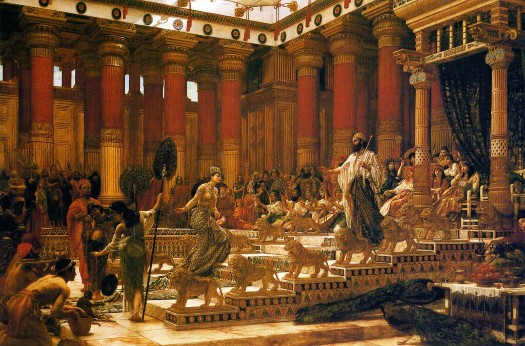 'The Visit of the Queen of Sheba to King Solomon', oil on canvas painting by Edward Poynter, 1890, Art Gallery of New South Wales. CC